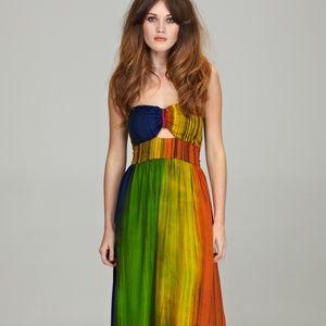 Dresses & Skirts - Sugarhill Boutique Rainbow Strapless Maxi Dress